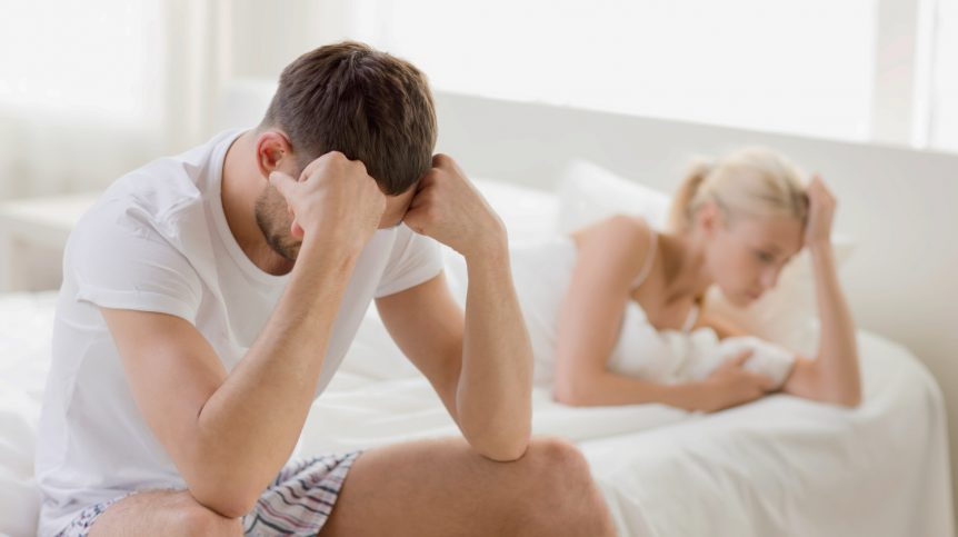 Unhappy couple having problems at bedroom | What To Do When Viagra Doesn't Work | viagra not working anymore | Featured
