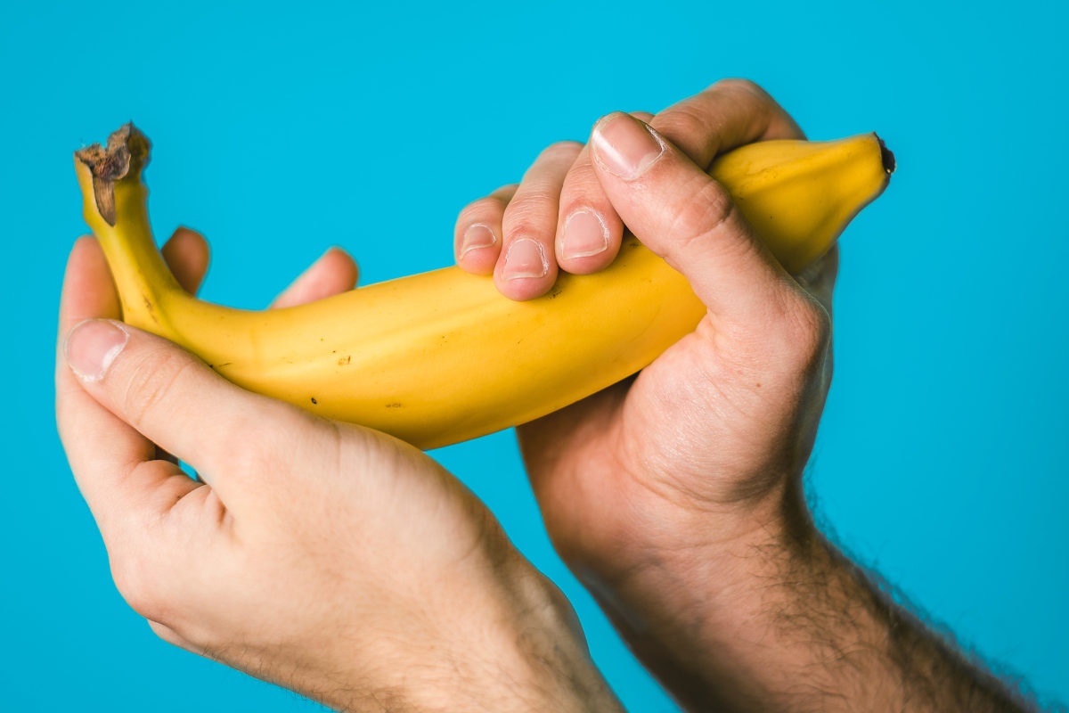 Holding a banana | P Spot: Getting To Know The Male G Spot | p spot location